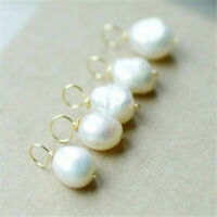11-12mm white Baroque pearl pendant 18k AAAA Women noble Real Accessories Chic