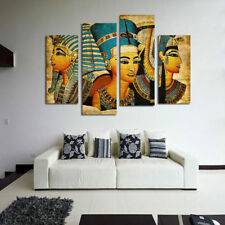 4pcs Ancient Egyptian Art Oil Painting Canvas Print Wall Art Picture Home Decor