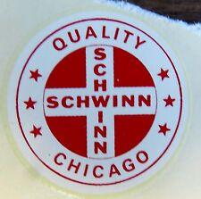 Schwinn Decal Sticker Quality Cross Chicago for Seat Tube on Vintage Bike 1.5 in