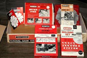 Vintage Craftsman Radial Saw Kit - With 4 Of  The Kits Original Tools *LOOK*