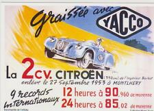 carte postale - CITROEN 2CV - YACCO - MONTLHERY 1953