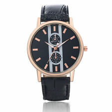 Men`s Casual Style Soxy Rose Gold Quartz Black Dial and Black Band Wrist Watch.