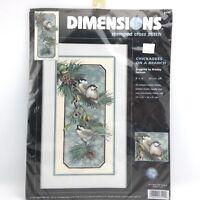 Dimensiones-Estampado Punto de Cruz Kit-carboneros en una rama-D03199