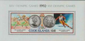 Cook Islands 1991- Olympic Games  Albertville & Barcelona 1992 Min. Sheet MNH
