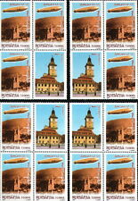 "4 BLOCK + Vignettes different positions VERY RARE / ROMANIA 2004 ""Zeppelin"" MNH"