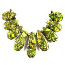 Sea Sediment Jasper Verde Lima Collar Colgante Perla Conjunto fuente de fabricación de joyas