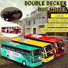 1:32 Double-decker City Bus Diecast Model Vehicles Toy Light & Sound Kids Gift