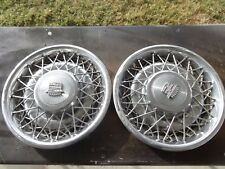 """1975-85 Cadillac 15"""" Wire Spoke Hubcaps Wheel Covers - Deville Fleetwood ONLY 2"""