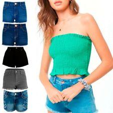 Women Ladies Boyfriend Stretchy Rip Denim Shorts Summer Jeans Shorts Hot pants