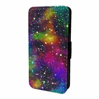For Mobile Phone Flip Case Cover Rainbow Space Pattern - S9825