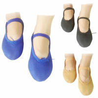 Cheap Womens Girls Mesh Split-Sole ballet dance boots kids perform shoes Slipper