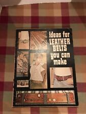 Vtg 1973 Ideas For Leather Belts You Can Make Book Booklet Full Size Patterns
