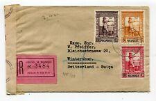 Mozambique WWII double-censor Vila Pery to Winterthur Switzerland 21.9.1942