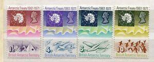 FAUNA_627 1971 British Antarctic Territory 4pc marine life birds penguins MNH