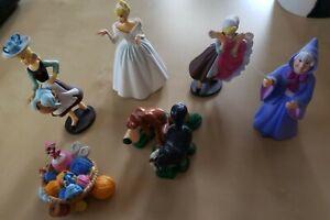 Lot of 6 Disney Princess Figures / Cinderella/ Cake Toppers Toys Set