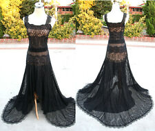 NWT MAX AZRIA $1200 Black Pageant Formal Evening Gown L