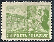 1919 FIUME POSTA FIUME 50 CENT MH * - RR12192