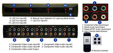 4 In 1 Out HD Component YPbPr Video Audio Switch With IR Remote