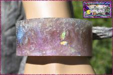 Wide Flat Cuff Bangle,Charmeleon&metalic shimmer&flakes.6.3cm inner cir. 3.3 Hgt