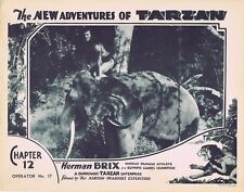 NEW ADVENTURES OF TARZAN 1935 Herman Brix Chapter 12 VINTAGE SERIAL Lobby Card 6