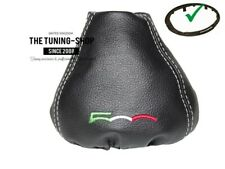 """Shift Boot + Plastic Frame Fiat 500 Abarth Leather """"500"""" Green White Red Logo"""