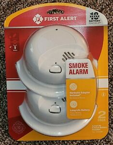 First Alert Hardwired With Battery Backup Smoke Alarm, 2 Pack 1044089