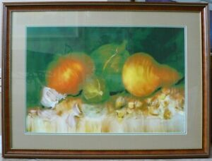 Original Lithograph By Belisario Impressionism Talented Artist/Excellent 29 X 39