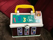 MATTEL FISHER PRICE 2008 SCHOOL HOUSE LUNCH BOX STORAGE CASE WITH HANDLE VGC