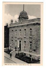 Hôtel de Ville THETFORD MINES City Hall Quebec Canada 1930-40s PECO Postcard 25
