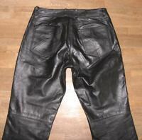 "STARK: "" HIGHWAY 1 "" Damen- LEDERJEANS / Biker- Lederhose in schwarz ca. Gr. 44"