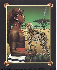 Ethnic African Samburo Tribal Man and Cheetah Print 8X10 Still 1997