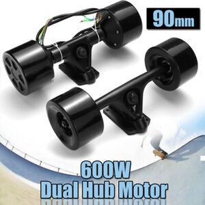 90MM 600W Dual Hub Motor Drive Wheel Kit For Electric Skateboard Longboard Hot