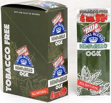 Hemparillo OGK Hemp Wraps Natural Rilla Rolling Papers 15 Packs Box 60 Wraps