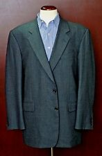 Hickey Freeman Men's Blue Dobby Weave Wool SportCoat Blazer 44L 44 Long