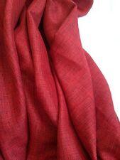 Curtain Fabric Prestigious Red Black Brookville Tweed Linen Weave 40 Metre Roll