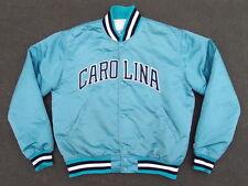 Vintage 90s Carolina Satin Jacket by Starter Size L M Made in USA Panthers North