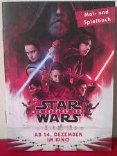 Star Wars: Episode 8 - Die letzten Jedi, Mal- und Spielbuch, 12 Seiten  (NEU)