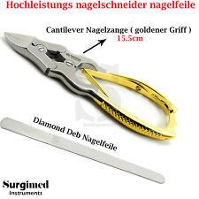 Nagelzange kräftig doppelte Übersetzung Eckenzange Diabetiker dicke Nagelfeile