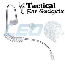 Tactical Ear Gadgets Clear Acoustic Coiled Tube For Hawk Lapel Mic Cougar Fox
