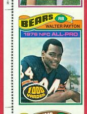 EXTREMELY RARE 1977 TOPPS (FB) Walter Payton /McCarren /Hall UNCUT 3-CARD SHEET!