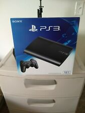 NEW SEALED   Sony PlayStation 3 Super Slim 12GB Charcoal Black Console PS3