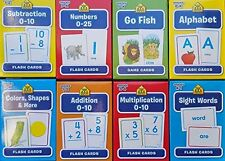 School Zone Flash Cards 8-Pack (Math, Go Fish, Alphabet, Numbers 0-25, & More