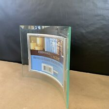 """NEW Curved Beveled Glass 3.5"""" x 5"""" Photo Picture Frame Silver Rim landscape"""