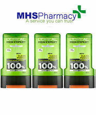 3 x 300ml L'Oreal Men Expert Clean Power Citrus Wood Shower Gel Face Body & Hair