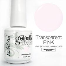 15ml Mabel's Gel Nail Art Soak Off Color UV Gel Polish UV Lamp- Transparent Pink
