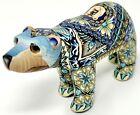 2010 Jon Anderson Polymer Clay Fimo Creations Polar Bear Millefiori Figurine