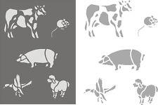 Bauernhof, Schablonen, Wandschablonen, Malerschablonen, Wandschablone, Tiere