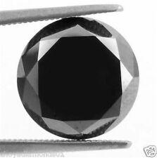 2.50 ct NATURAL LOOSE DIAMOND JET BLACK OPAQUE ROUND BRILLIANT CUT JEWEL USE NR