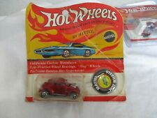 Hot Wheels Redline 1970 Red Line Custom Volkswagen Red Chrome Sealed In Card
