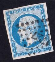 EMPIRE  VARIÉTÉ N°14 A  ( BLEU CLAIR ) oblitérée 1727 sans défauts